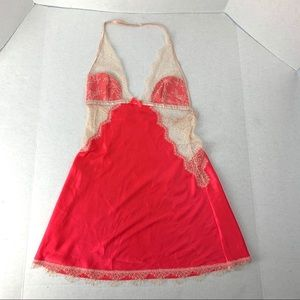 Victoria's Secret Coral Lace Backless babydoll